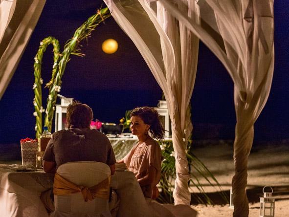 Beach dinner, Zanzibar