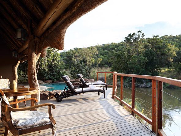 Zulu Camp main deck, pool