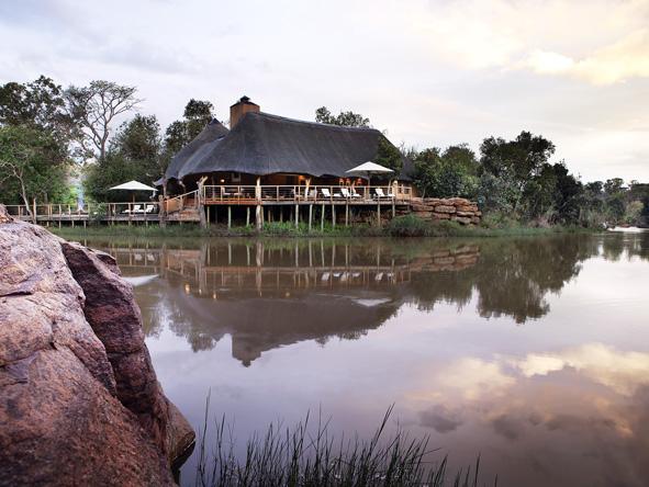 Zulu Camp overlooking a river