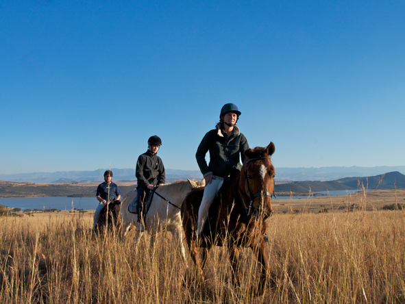 horseback riding on safari