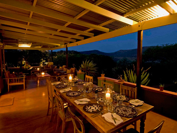 Outdoor dinner, South Africa