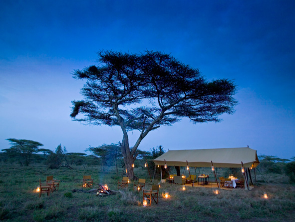 Mobile camping in the Serengeti