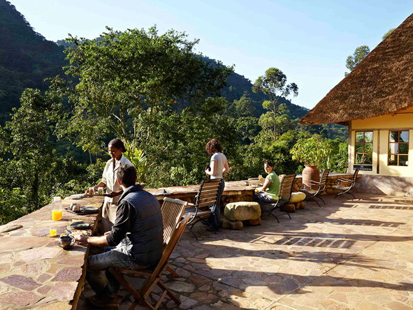 Volcanoes Bwindi Lodge, breakfast