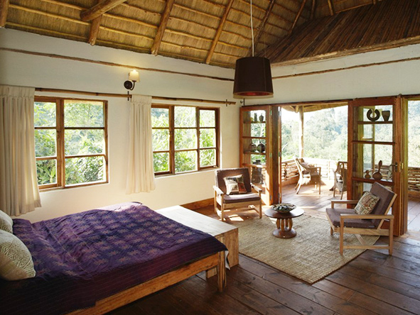 Rooms at Volcanoes Bwindi Lodge