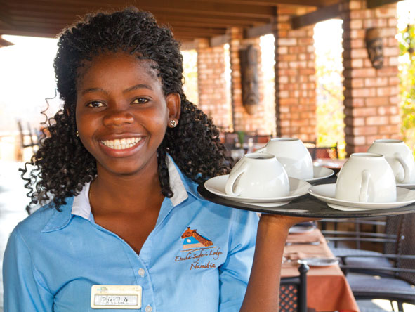 Etosha Safari Lodge, friendly staff