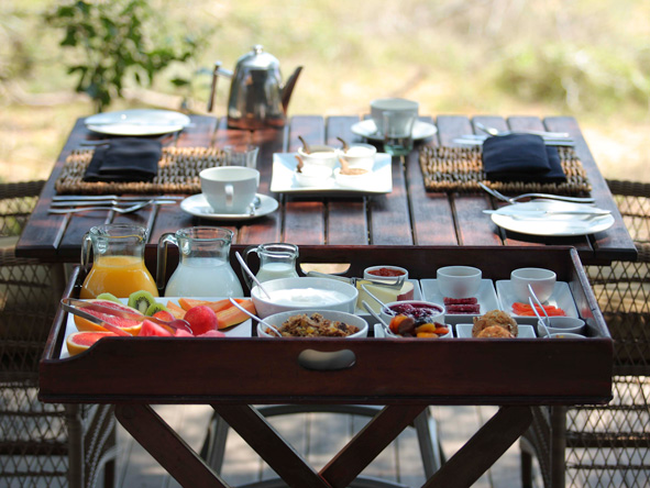Phinda Vlei Lodge, breakfast