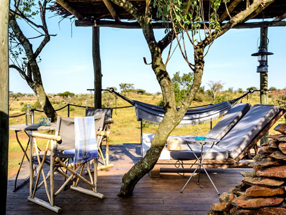 Deck and chairs, Singita Faru Faru