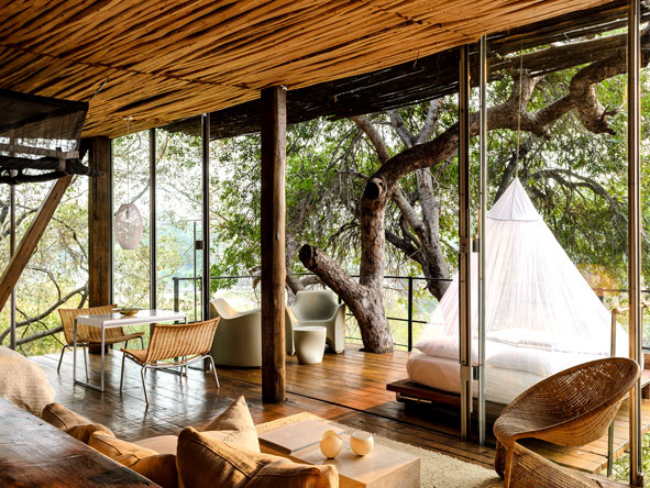 outdoor bedroom, Singita