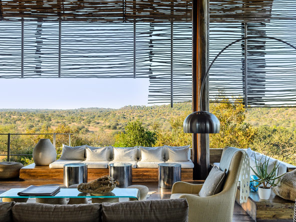 Singita Lebombo Lodge, outdoor deck
