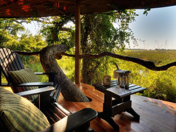 Kanana Lodge, outside deck