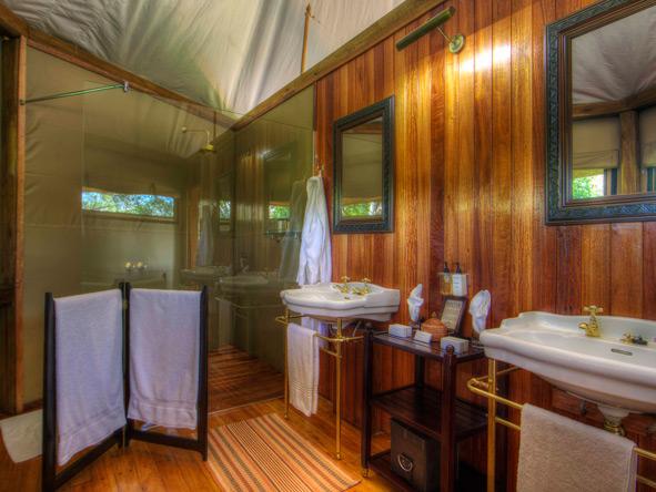 kanana tented lodge, en-suite bathroom