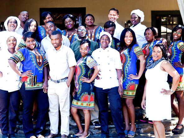 Namibian staff at olive grove