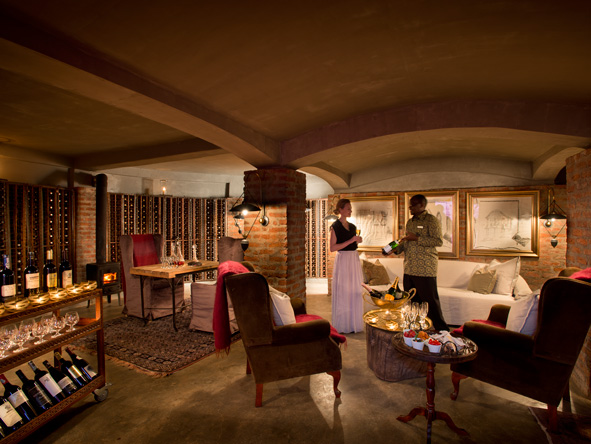 Ngorongoro Crater Lodge, wine cellar