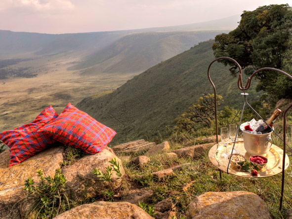 Picnic at ngorongoro crater