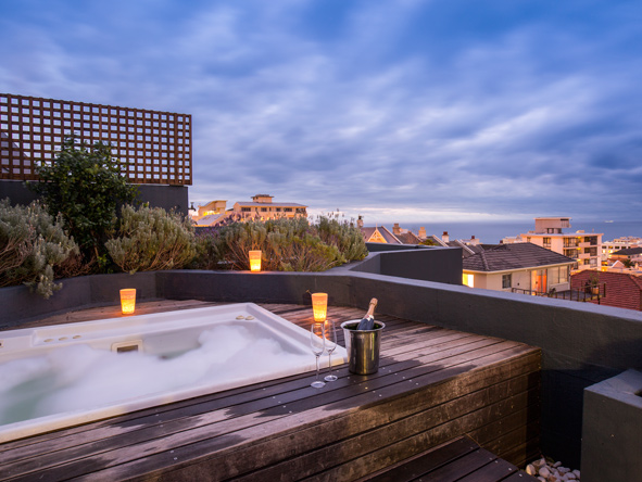 O on kloof boutique hotel, hottub