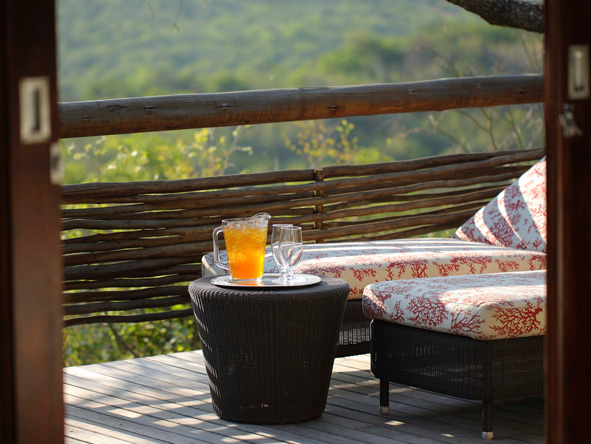 Private deck, Phinda Mountain Lodge