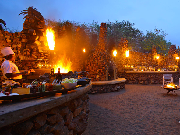 African Boma dinner, Phinda Mountain Lodge