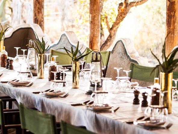 dining table, Camp Kalahari
