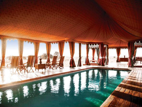 Jacks Camp, covered swimming pool