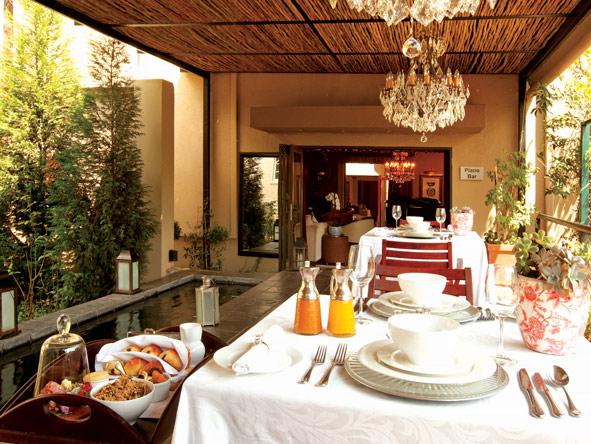 breakfast at the residence, johannesburg