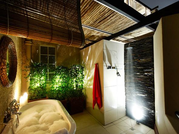 en-suite bathroom, outdoor shower, The Residence