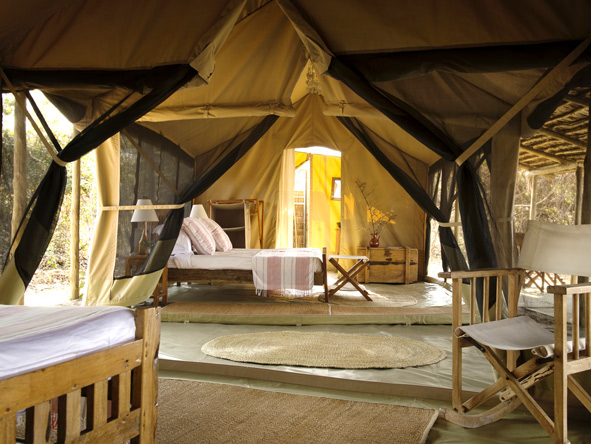 luxury tents with en-suite bathroom and private deck
