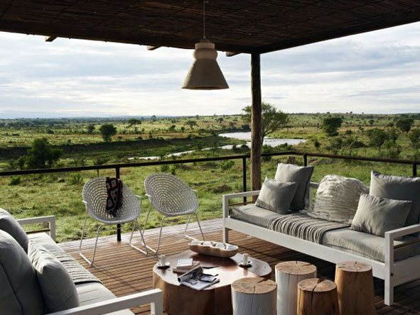 view from deck, Singita Mara River