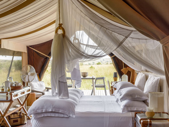 bedroom suites, singita Mara Tented Camp