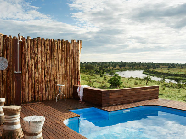 Singita Mara River Tented Camp, Pool deck
