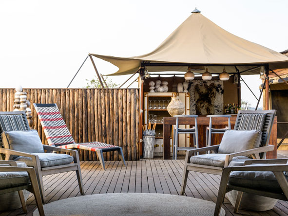 Singita Mara River Tented Camp, Bar Deck