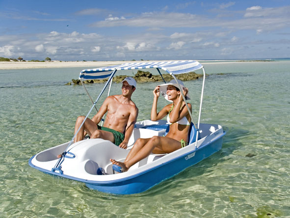 pedal boating, mozambique