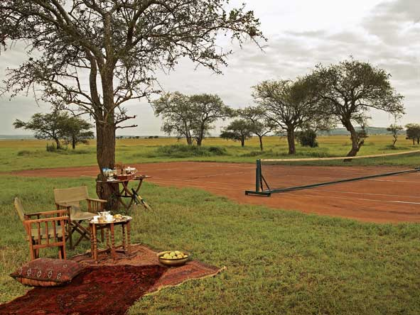 Singita Sabora, clay tennis court