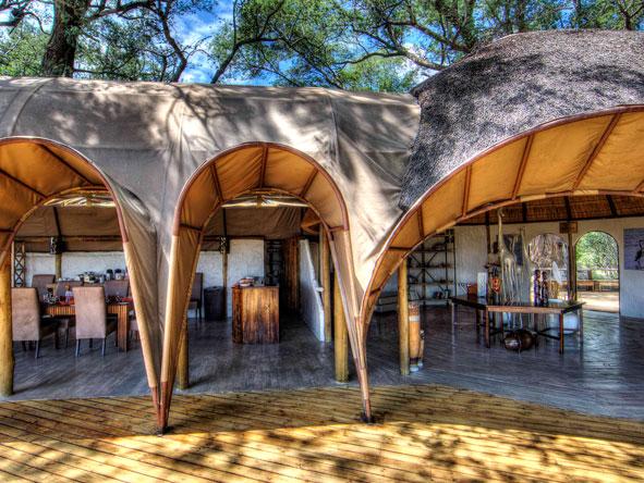 dining area at camp okuti