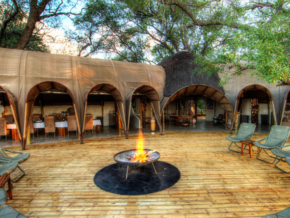 open-air firepit, Camp Okuti