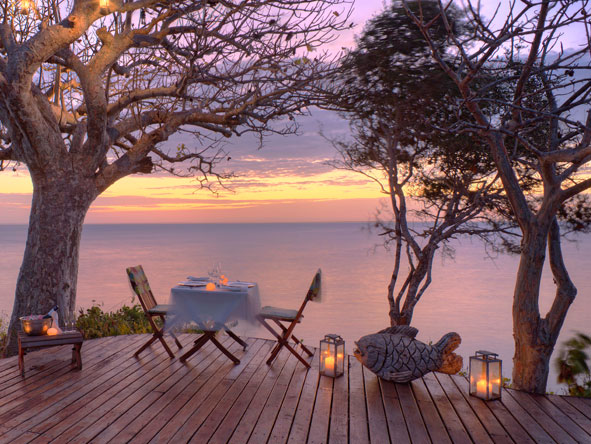 Romantic evening sunset, Mozambique honeymoon