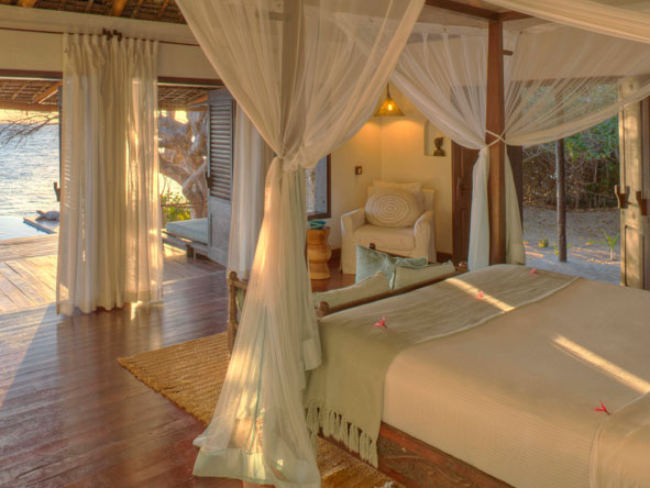 luxurious bedroom suite, mozambique