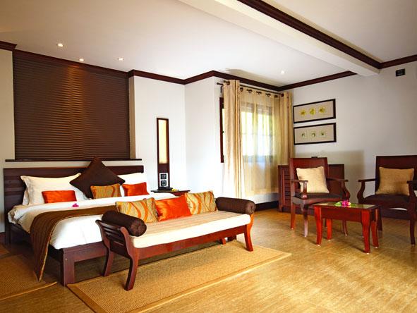 Luxury bedroom suite, Hotel L'Archipel