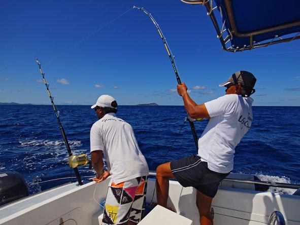 Fishing, praslin island, seychelles