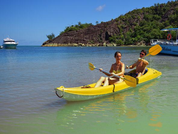 Kayaking in Praslin Island, Seychelles