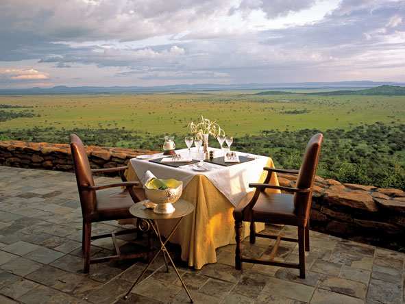 Private dinner on the terrace, Singita