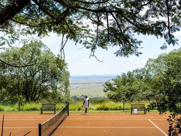 tennis court at singita sasakwa