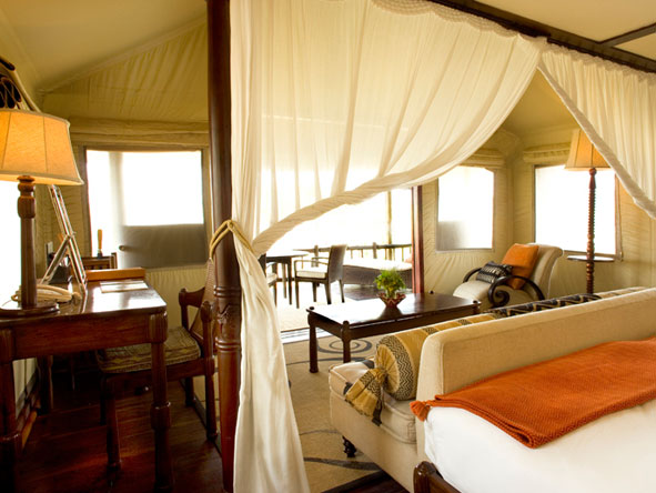 luxury tented suites at Belmond Savute Elephant Lodge