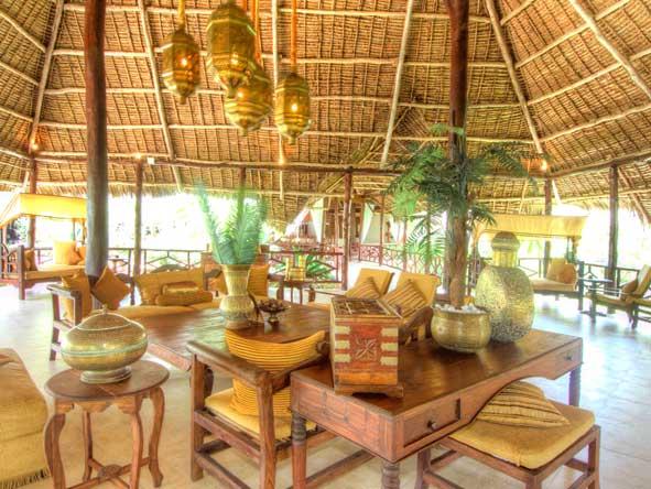 open air lounge at breezes beach club