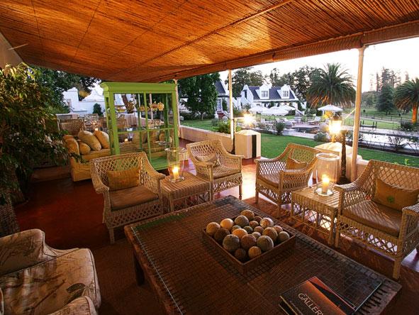 outdoor lounge at Kurland Estate
