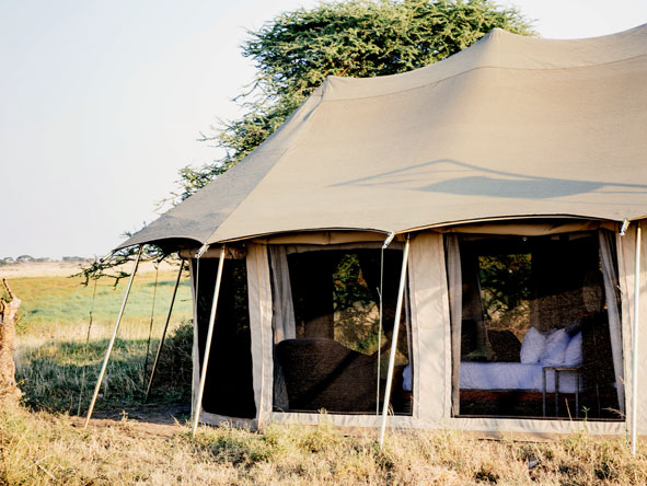 Namiri Plains luxury tented camp