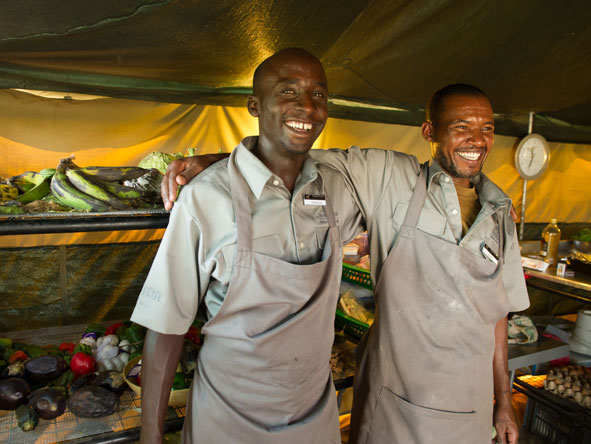 staff at Namiri Plains camp