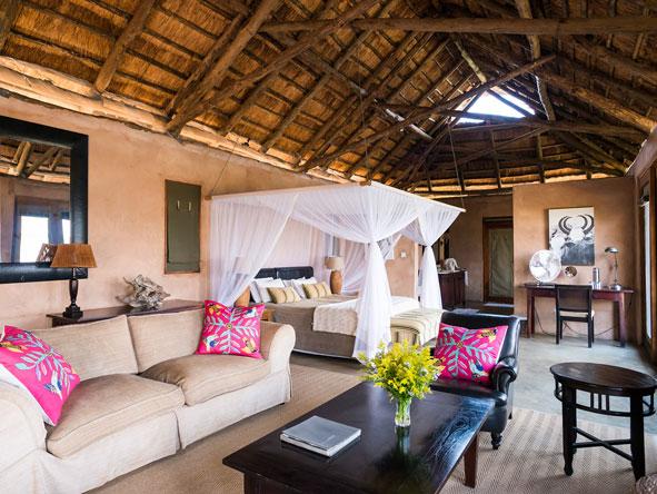 Royal Zambezi Lodge, bedroom suite