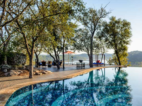 pool deck at singita pamushana lodge