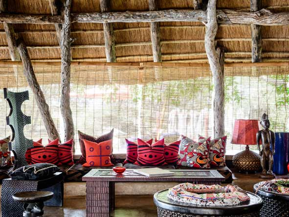 Singita Pamushana lodge, lounge