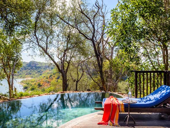 swimming pool views at Singita Pamushana Lodge